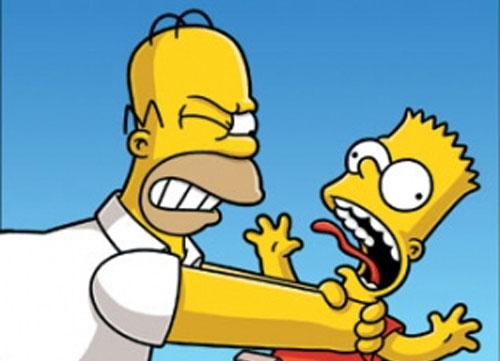 homer-choking-bart-simpson
